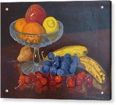 Fruit And Glass Acrylic Print by Terry Perham