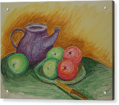 Fruit And Pot Acrylic Print by Paul Morgan