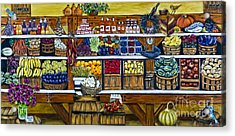 Fruit And Vegetable Market By Alison Tave Acrylic Print by Sheldon Kralstein