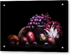 Fruit And Vegetables Still Life Acrylic Print by Tom Mc Nemar