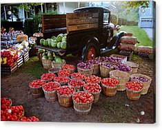 Fruit And Vegitable Stand Truck Acrylic Print by Tom Brickhouse