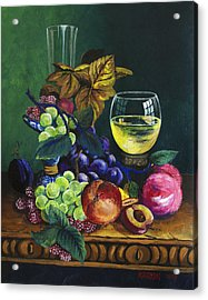 Fruit And Wine Acrylic Print