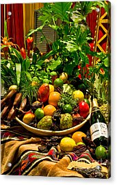 Acrylic Print featuring the photograph Fruit And Wine by Mae Wertz