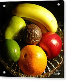 Fruit Bowl Acrylic Print by Linda Provan
