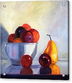 Fruit Bowl Acrylic Print by Nancy Merkle