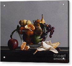 Fruit Bowl No.2 Acrylic Print by Larry Preston