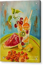 Fruit Coctail Acrylic Print by Summer Celeste