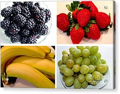 Fruit Collage Acrylic Print by Barbara Griffin