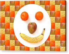 Fruit Face Acrylic Print by Natalie Kinnear