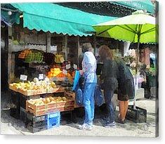 Fruit For Sale Hoboken Nj Acrylic Print by Susan Savad