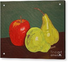 Fruit For Teacher Acrylic Print by Vicki Maheu