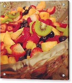 #fruit #fruitsalad #fruitsbasket #fresh Acrylic Print