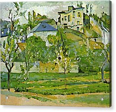 Fruit Garden In Pontoise By Cezanne Acrylic Print by John Peter