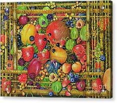 Fruit In Bamboo Box Acrylic Print by EB Watts