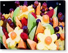 Fruit Kabobs Acrylic Print by Cindy Singleton