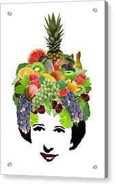 Fruit Lady Acrylic Print by Jennifer Schwab