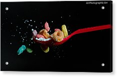 Acrylic Print featuring the photograph Fruit Loops Meet Milk by John Hoey