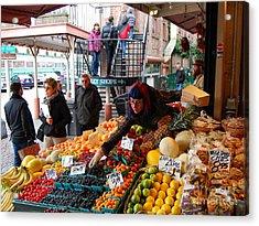 Fruit Market Vendor Acrylic Print
