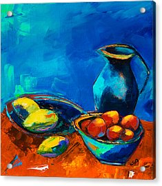 Acrylic Print featuring the painting Fruit Palette by Elise Palmigiani