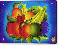 Fruit Acrylic Print by Richard Bantigue