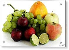 Fruit Salad Acrylic Print by Cole Black