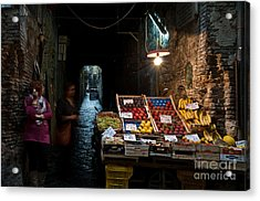 Fruit Stall Acrylic Print by Marion Galt