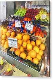 Fruit Stand Hoboken Nj Acrylic Print by Susan Savad