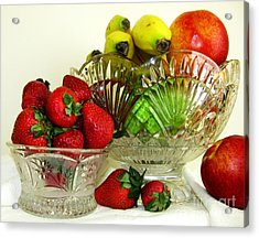 Fruit Still Life 1 Acrylic Print by Margaret Newcomb