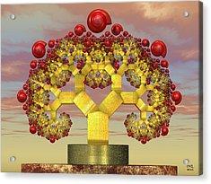 Fruiting Pythagoras Tree Fractal Acrylic Print