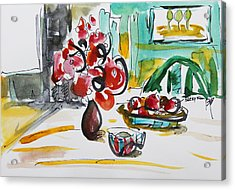 Fruits And Tea Acrylic Print by Becky Kim