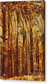 Fruits And Vegetables Forest Acrylic Print