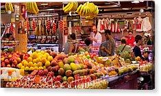 Fruits At Market Stalls, La Boqueria Acrylic Print