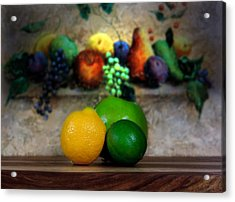 Fruits Galore Acrylic Print by Cecil Fuselier