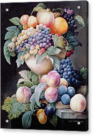 Fruits Acrylic Print by Pierre Joseph Redoute