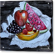Fruits  Acrylic Print by Saranya Haridasan