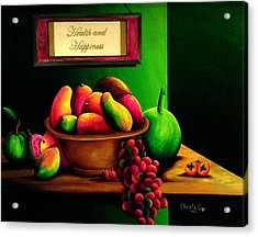 Fruits Still Life Acrylic Print