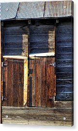 Ft Collins Barn Tin 13547 Acrylic Print by Jerry Sodorff