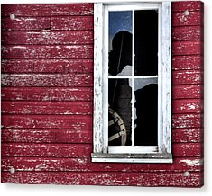 Ft Collins Barn Window 13568 Acrylic Print by Jerry Sodorff