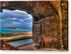 Ft. Jefferson And Its Horizon 2 Acrylic Print by Andres Leon