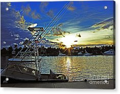 Ft. Lauderdale Sunset Acrylic Print by Alison Tomich