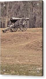 Ft. Mcallister Cannon 2 View 2 Acrylic Print
