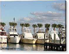 Ft. Pierce Marina Acrylic Print