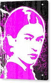 Acrylic Print featuring the mixed media Fuchsia Frida by Michelle Dallocchio