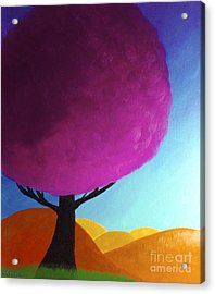 Acrylic Print featuring the painting Fuchsia Tree by Anita Lewis