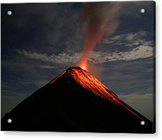 Fuego On A Moonlit Night Acrylic Print by Kevin Sebold