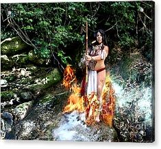 Fuego Y Humo Acrylic Print