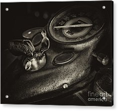 Fuel Tank Speedometer Ignition Switch Keys Acrylic Print by Wilma  Birdwell