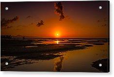 Fuerteventuera Beach Sunrise Reflections Acrylic Print