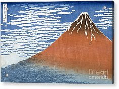 Fuji Mountains In Clear Weather Acrylic Print by Hokusai