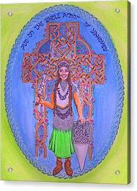 Full Armor Of Yhwh Woman Acrylic Print